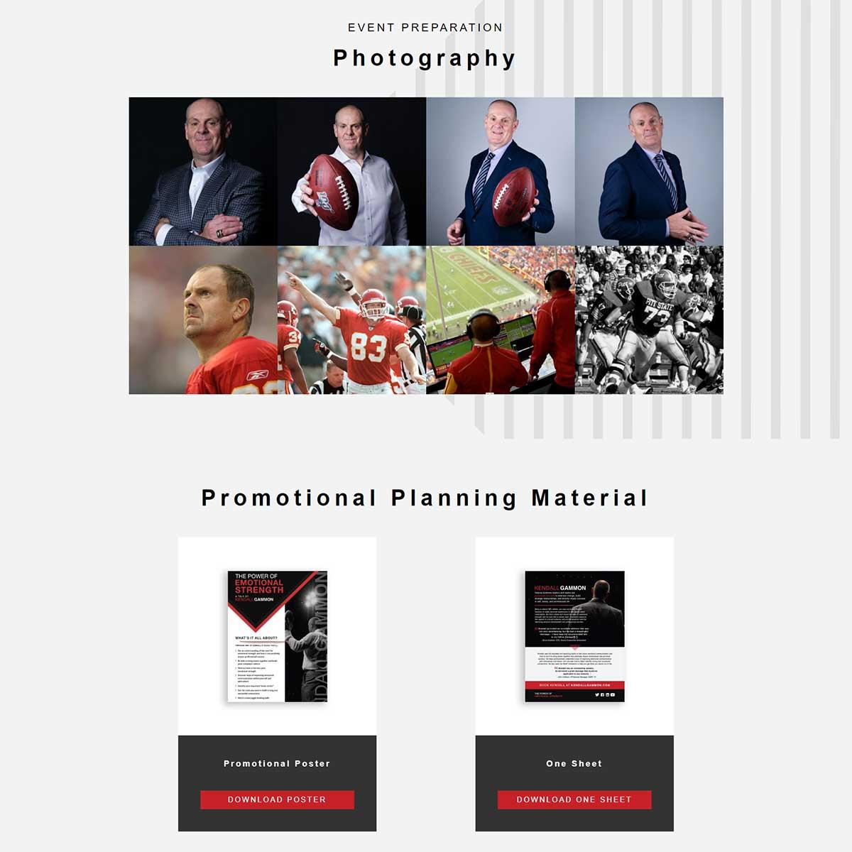 limelight marketing website design and development for kendall gammon