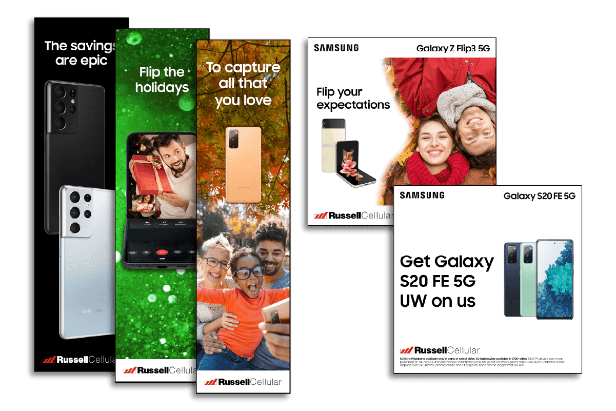 LimeLight Marketing - Featured Work Russell Cellular Paid Search